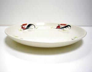 画像2: にわとり柄  平皿丸  New22cm