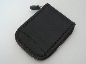 画像1: タイ製 カード入れ 黒